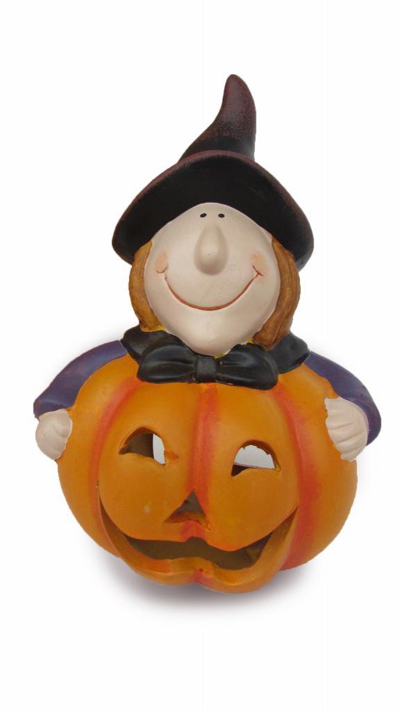 Suport lumanare Pumpkin Witch
