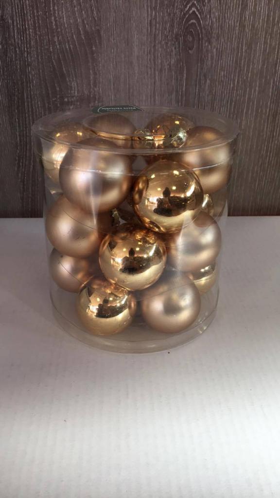 Set 18 globuri aurii din sticlă