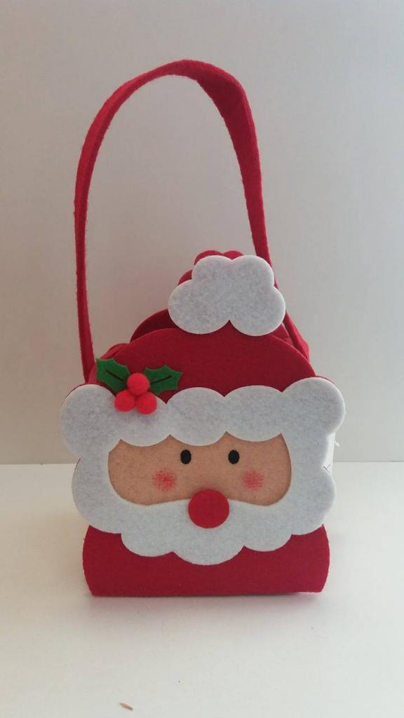 Gentuță textilă cu Moș Crăciun
