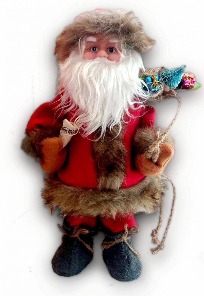 Decorațiune pluș Moș Crăciun muzical