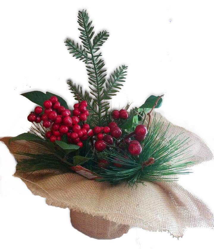 Decorațiune Crăciun Aranjament ghiveci