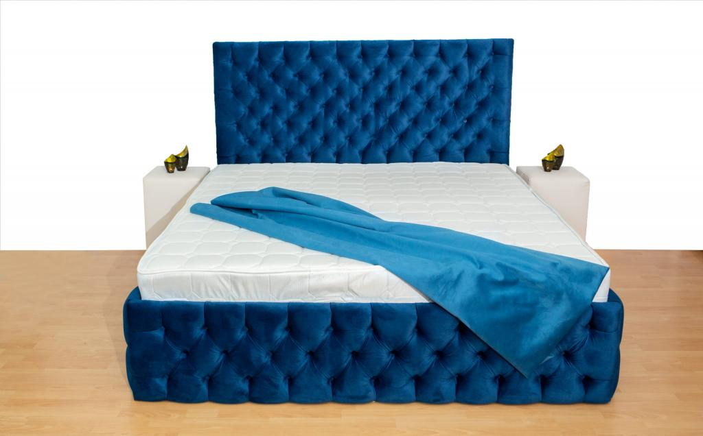 Pat Tapitat Cyntia Premium Albastru 180/200